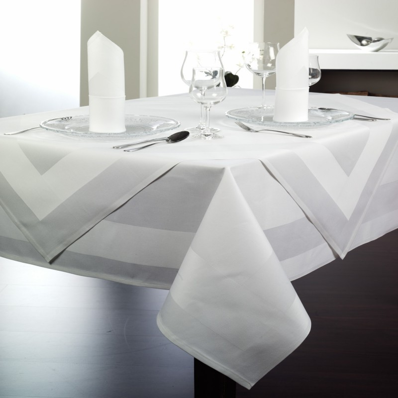 Serviette de table restaurant serviette de table - Ensemble nappe et serviette de table ...