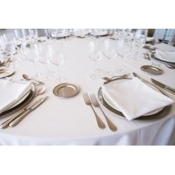 Malta - Nappe blanche pour habillage de table et buffet
